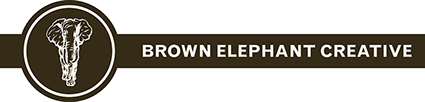 Brow Elephant Creative Logotype Header