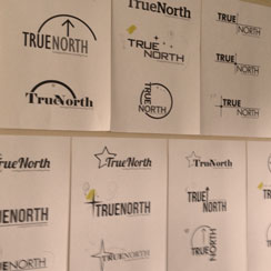 True North Logo on Wall